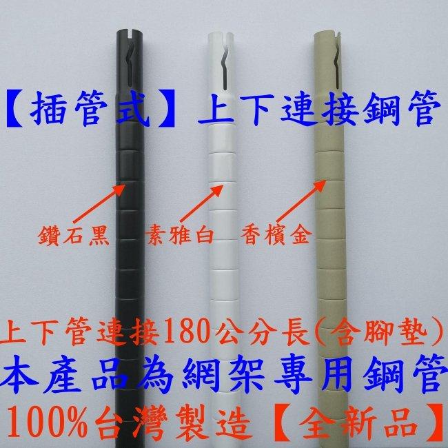 4支一組【 】180公分1英吋上下插管鐵管【 類】粉體烤漆-波浪架-置物架-鍍鉻架-展示架 鐵管-INS180