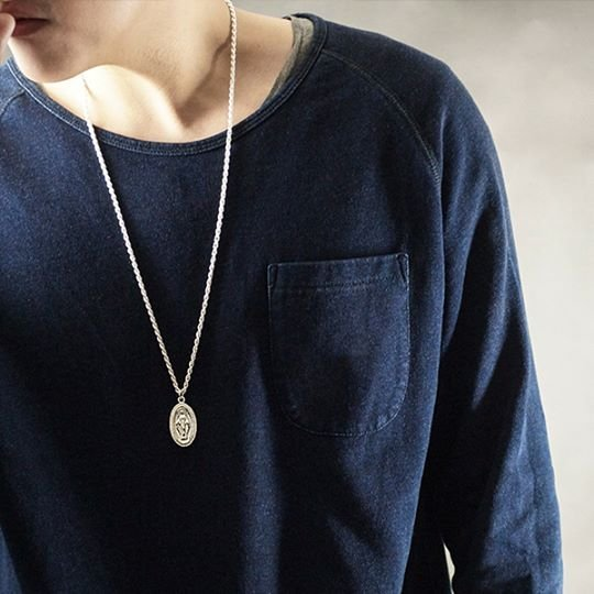 {LYJ}  天主教聖母項鍊 Solo Immaculate Conception Necklace  亮銀色
