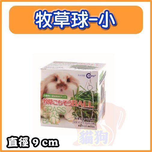 Canary 兔專用牧草球餵食牧草球/牧草架/可懸掛、附鍊子/玩具 特價119元---小的
