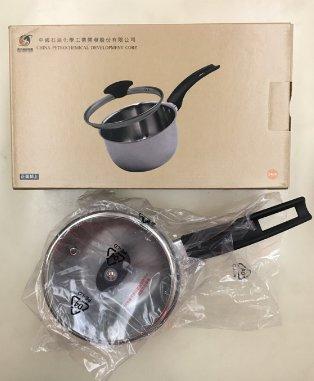 中石化 股東會紀念品 LH不鏽鋼單柄小湯鍋 兒童副食品