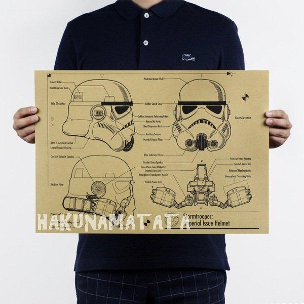 【貼貼屋】星際大戰 Star Wars 白兵 懷舊復古 牛皮紙海報 店面裝飾 科幻電影 719