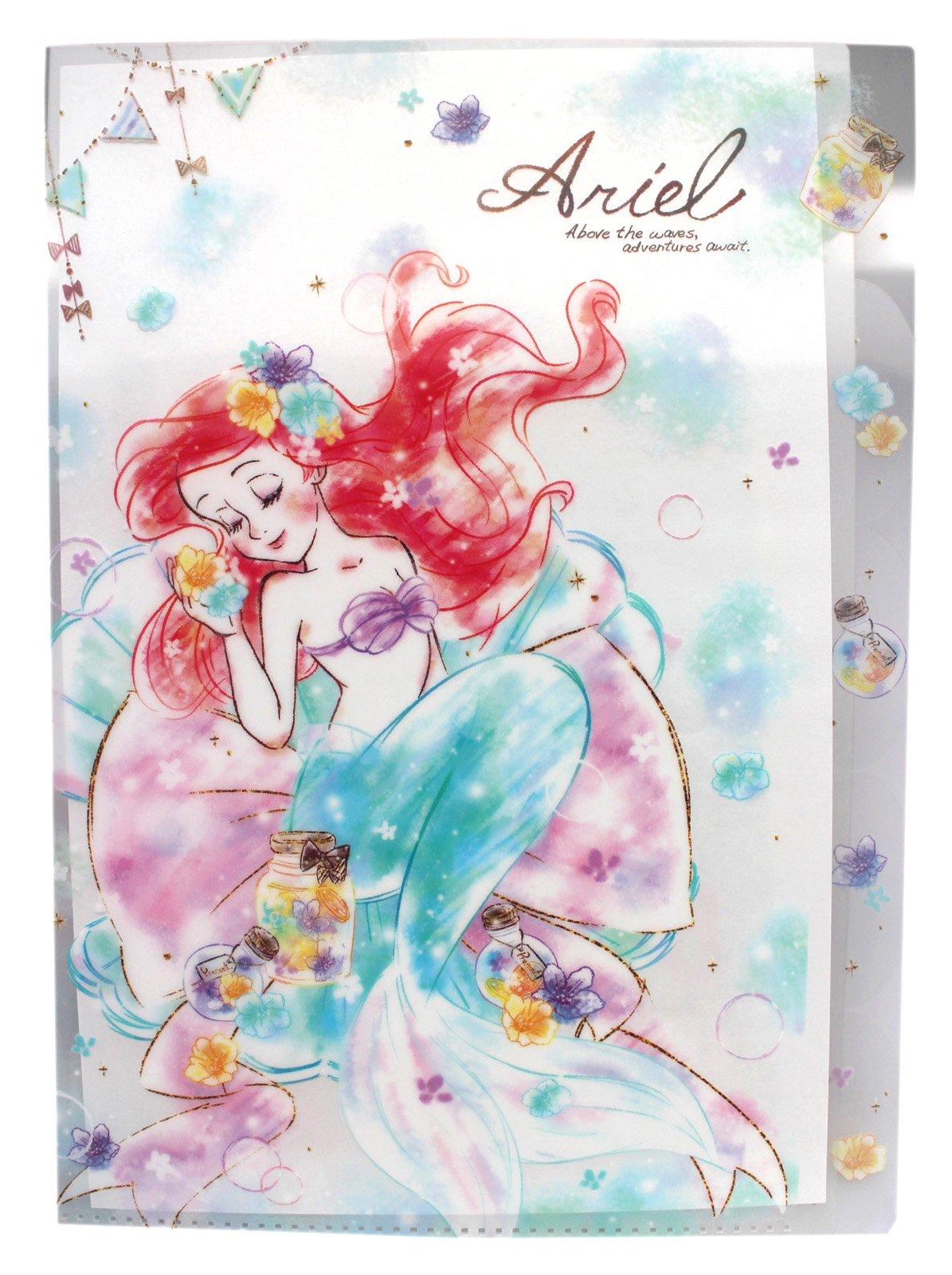 【卡漫迷】 小美人魚 L字型 五層 資料夾 夢幻版 ㊣版 文件夾 檔案夾 日製 公主 愛麗兒 Ariel Mermaid