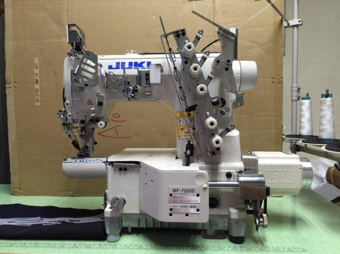 JUKI MF7200 細筒型 三本車 繃縫 工業用 縫紉機 自動切線 直驅馬達.天祥縫紉機行