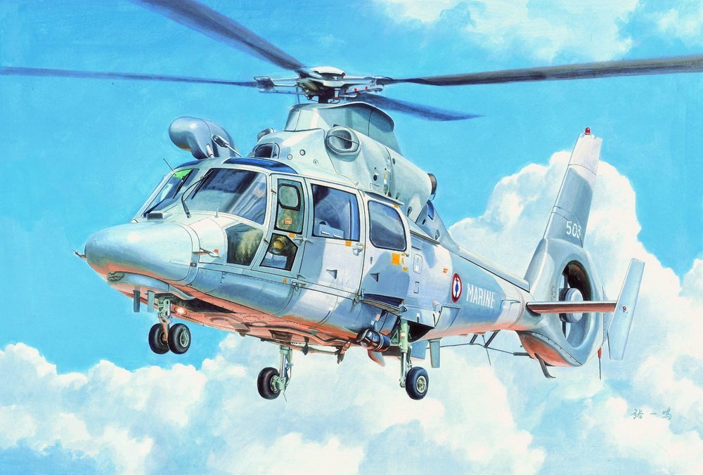TRUMPETER 小號手 1/35 AS565 Panther Helicopter 「黑豹」直升機 05108