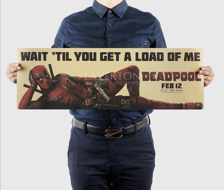 【貼貼屋】死侍 DEADPOOL 超級英雄 MARVEL 好萊塢 電影 懷舊復古 牛皮紙 海報 壁貼