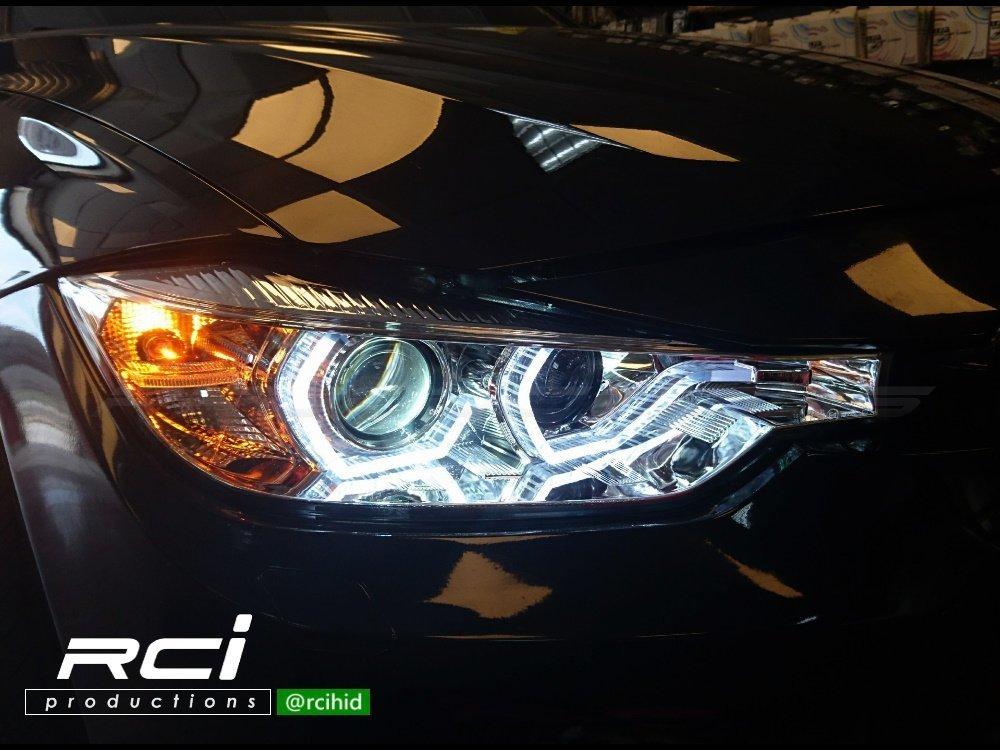 RC HID LED專賣店 BMW F30 F31 12-15年 魚眼大燈組 類LCI LED 光柱式樣