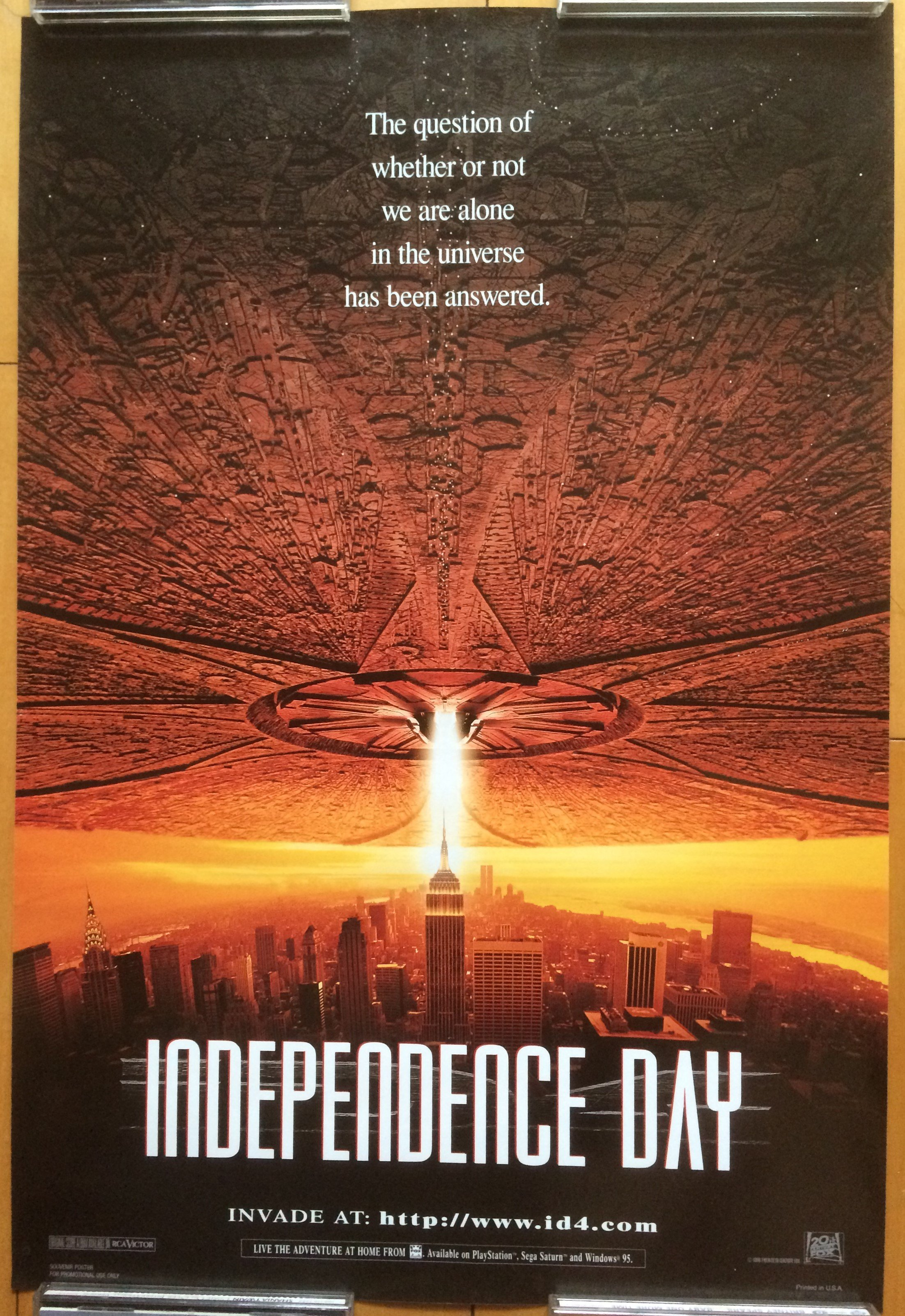 ID4:星際終結者 ( Independence Day ) - 美國 電影小海報 (1996年)