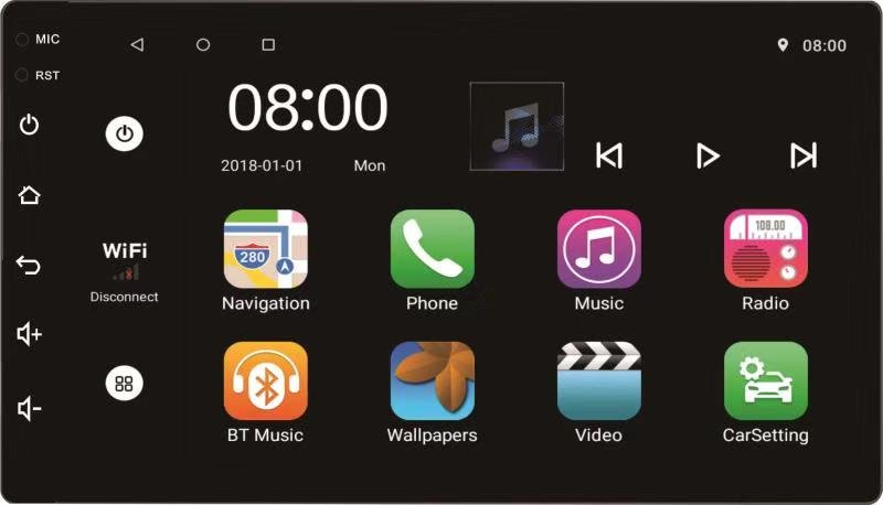 Autonet A11-7   7吋 Android v 8.1 安卓系統標準  2DIN 汽車智慧型音響主機