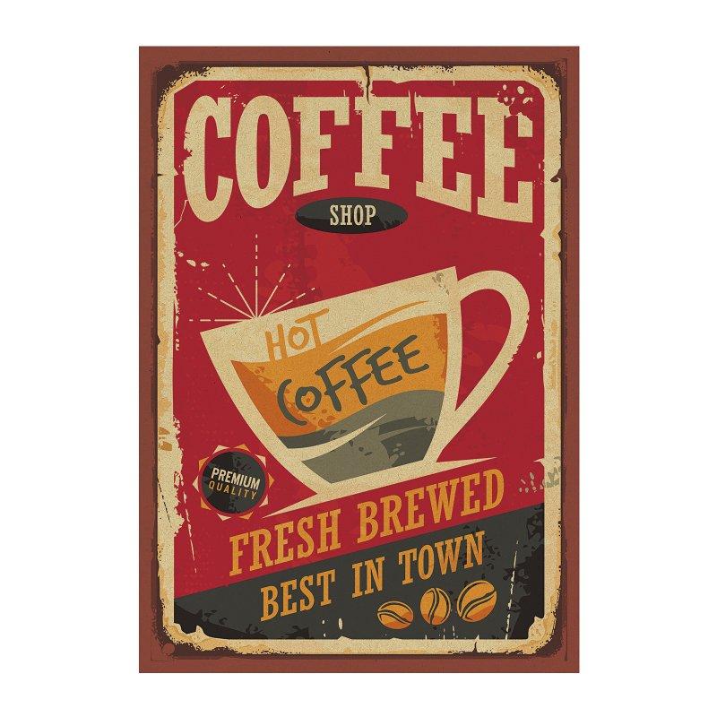 【貼貼屋】美式咖啡店廣告海報 咖啡店佈置 復古海報 牛皮紙海報 店面裝飾 A38