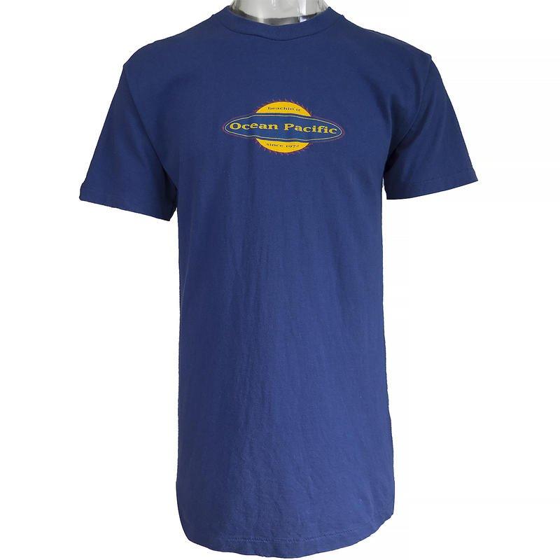 美國Ocean Pacific純棉藍色長版短袖T恤 美國製