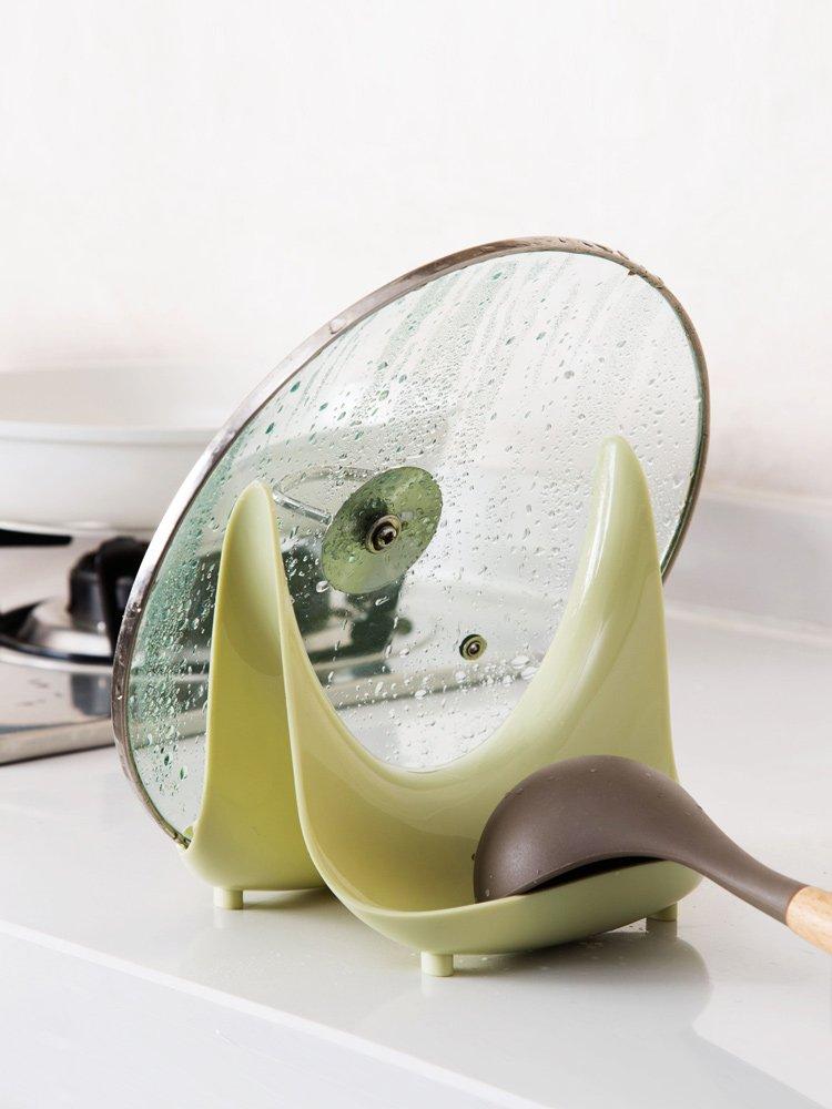 廚房寶居家家 塑料鍋蓋架放鍋蓋收納架 廚房臺面置物架家用菜板架砧板架