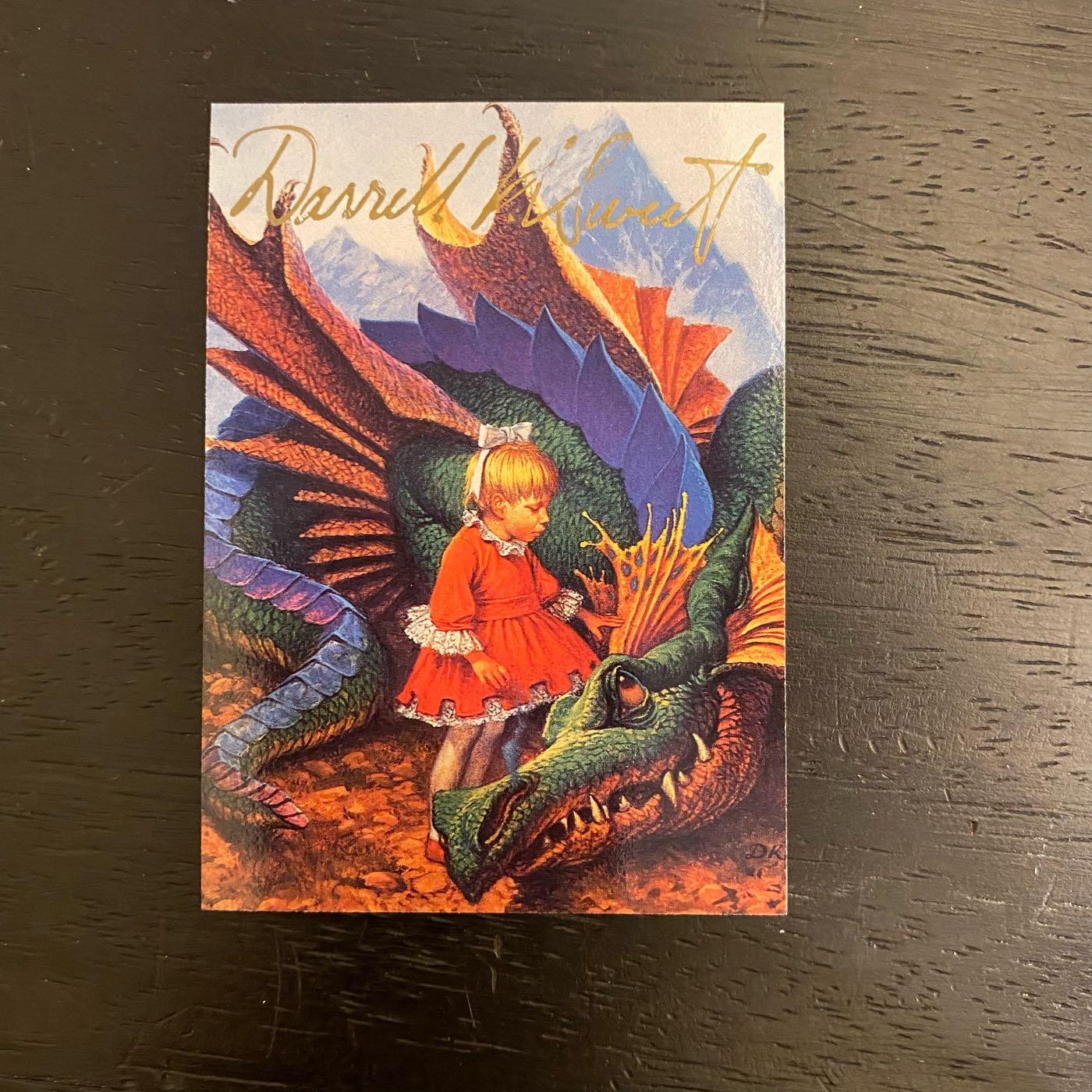 1994 FPG DKS Darrell K Sweet 美國專業插畫家 雨果獎提名 親筆簽名 收藏卡 卡片