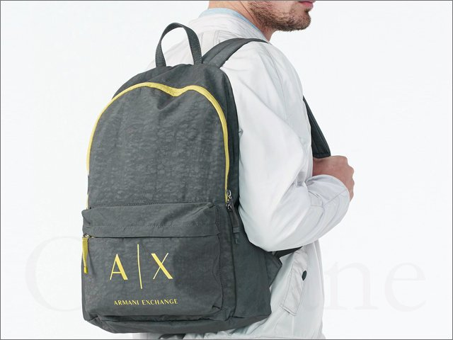 現貨 美國真品 AX 阿曼尼 A|X Armani Exchange backpack 灰色 防水 肩背包 拉鍊 後背包