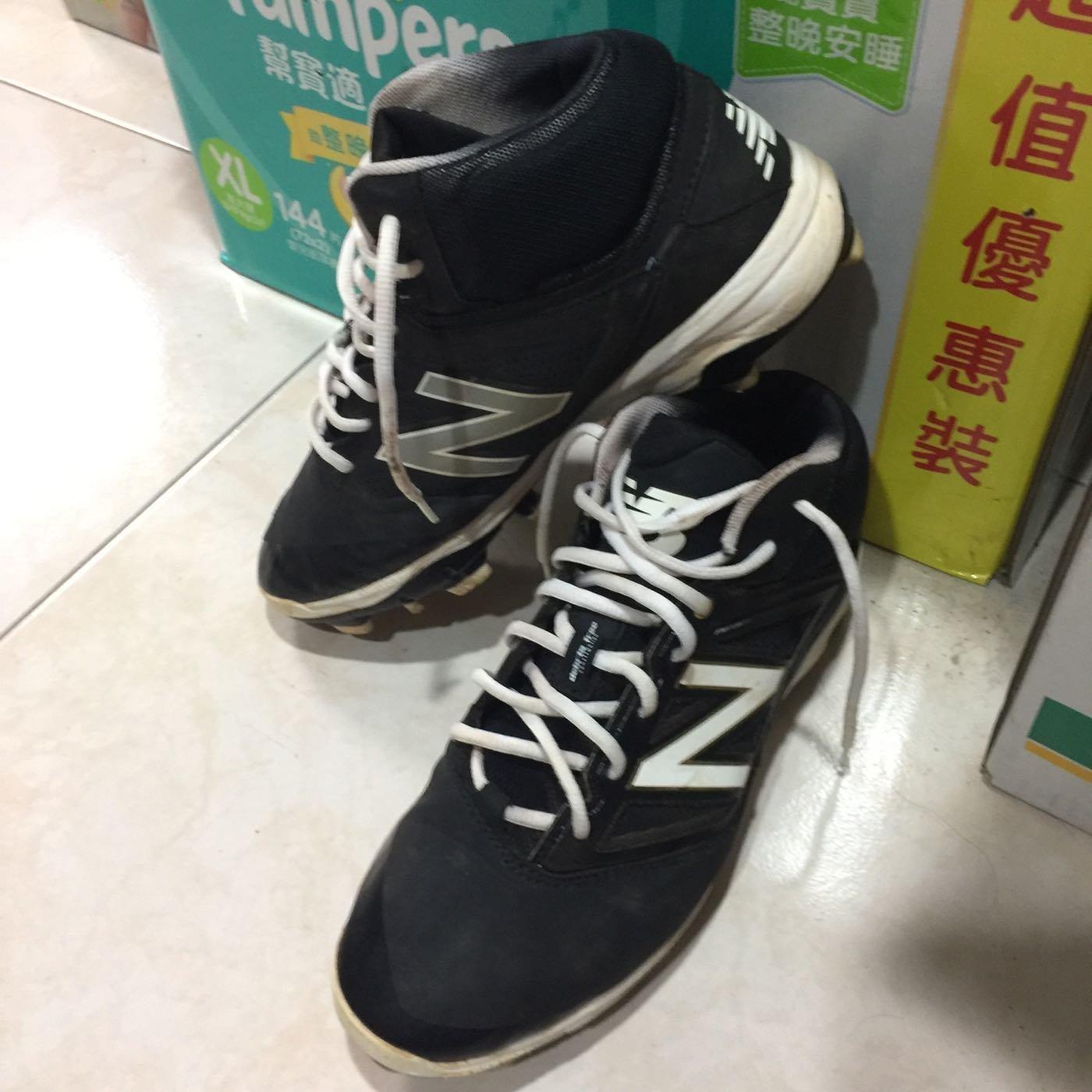 二手 New Balance NB 中筒 寬版 棒球 壘球 棒壘球鞋 膠釘鞋