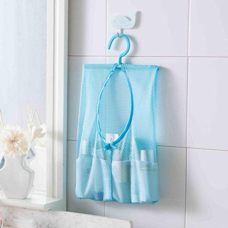 3入組~可掛式多用途收納網袋 掛袋 分類收納更方便 衣袋 收納衣袋