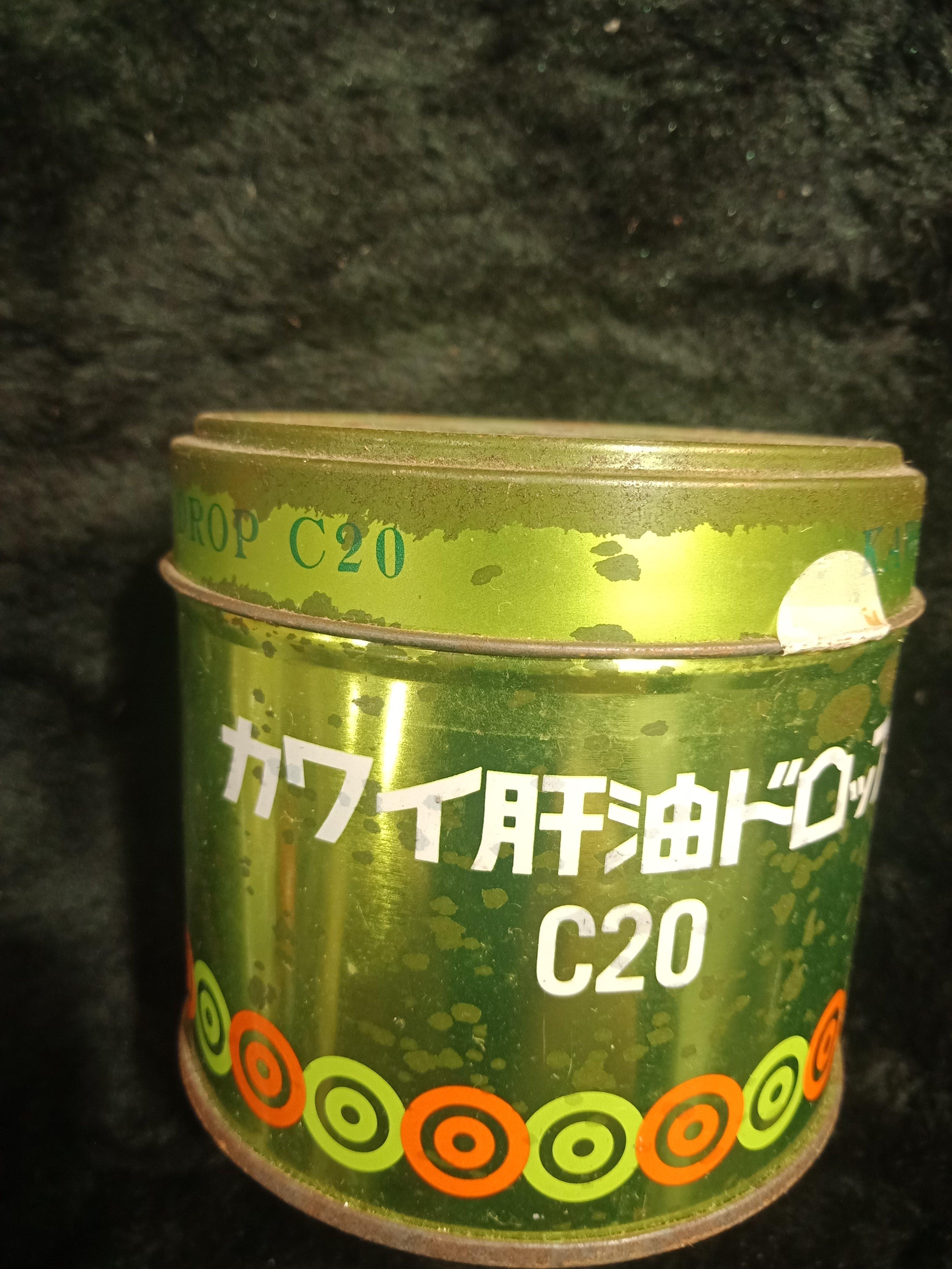 日本 KAWAI 河合製藥 - 康喜健鈣 C20 梨鈣魚肝油 - 老鐵罐 7.5公分高 - 301元起標  A-38箱