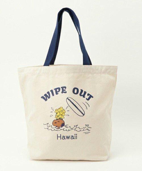 全新日本正品【SURFS UP PEANUTS】HAWAII LIMITED TOTE BAG WIPE OUT