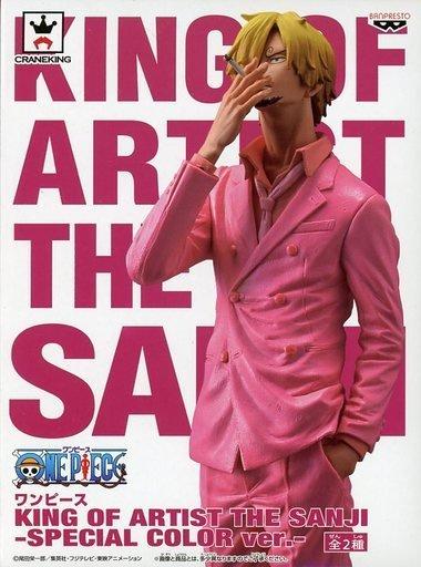 日本正版 景品 海賊王 航海王 KOA 藝術王 香吉士 粉紅色 模型 公仔 日本代購