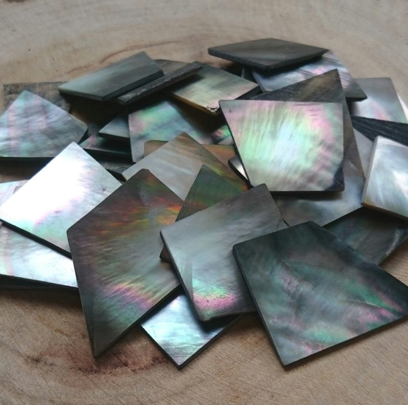60g 不規則切片單面拋光天然海水黑色珍珠貝殼片 馬賽克拼貼DIY 藝 項鍊 串珠 陶瓷 玻璃