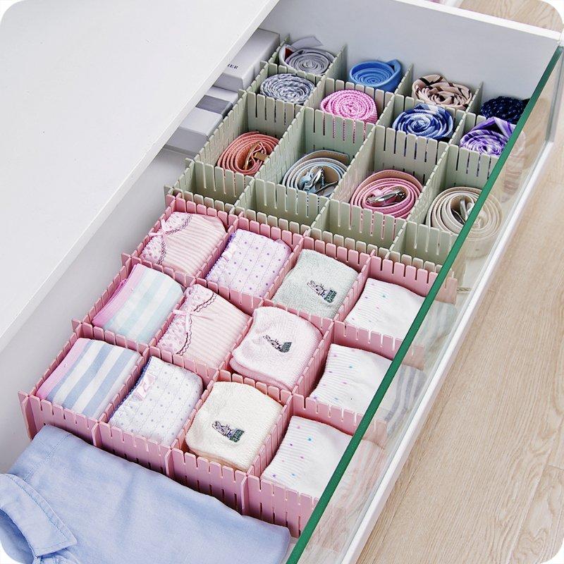 居家優思居 抽屜收納分隔板 diy自由 整理隔板可調節衣柜衣物整理