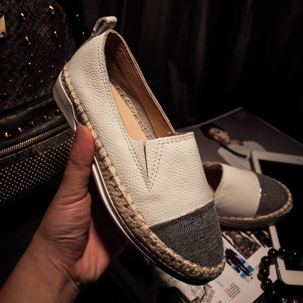 =WHITY=韓國GRAMMI品牌 韓國製  可愛女人新品雙色自留明星有穿 孫芸芸 真皮小厚底鞋  S6BCC81
