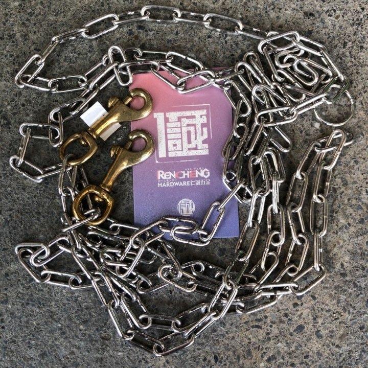 「仁誠五金」含稅! 永芳 白鐵 犬鍊 氬焊 雙頭 12# 8尺 線徑約2.5mm 不銹鋼鍊 狗鍊 ST鍊 不鏽鋼鍊 牽繩
