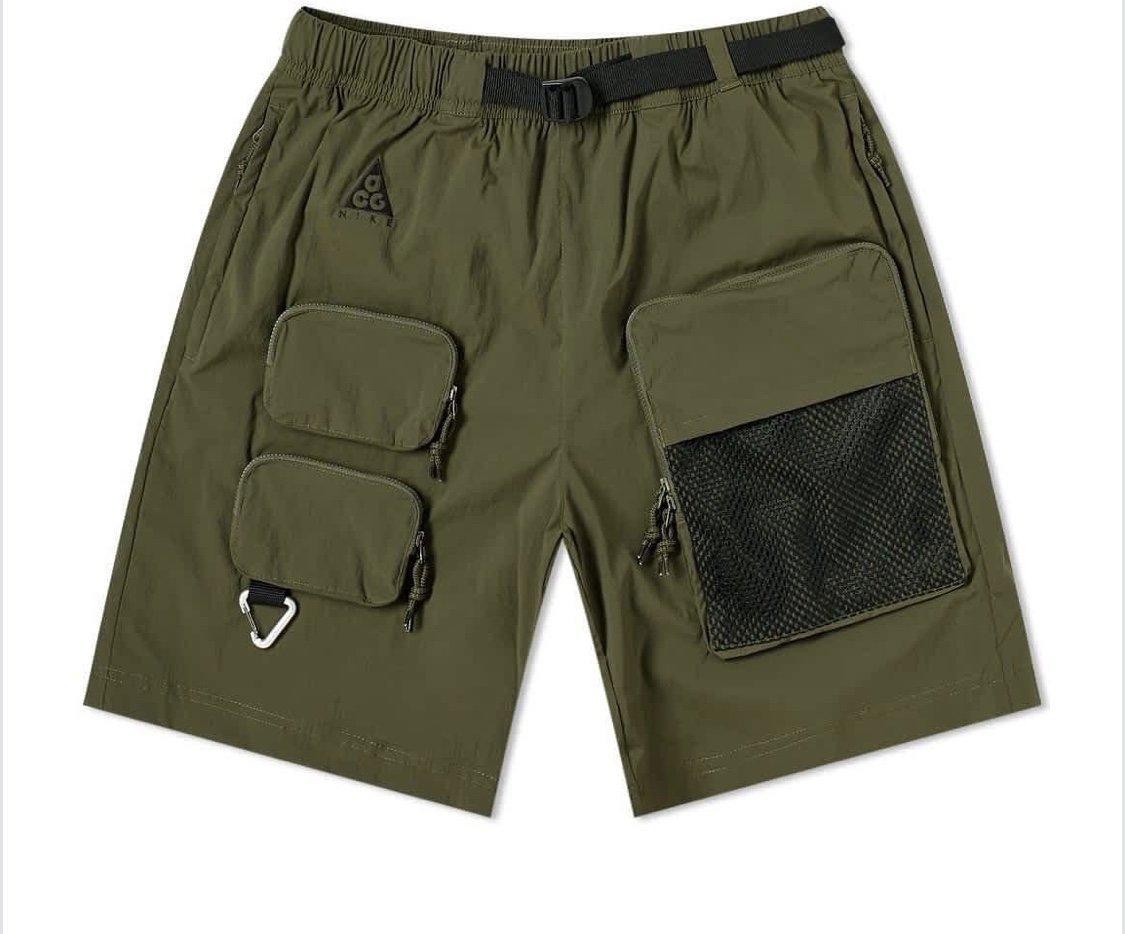 全新 NIKE ACG CK7856-326 工裝 口袋 軍綠 機能工作休閒褲  CK7856-010 短褲