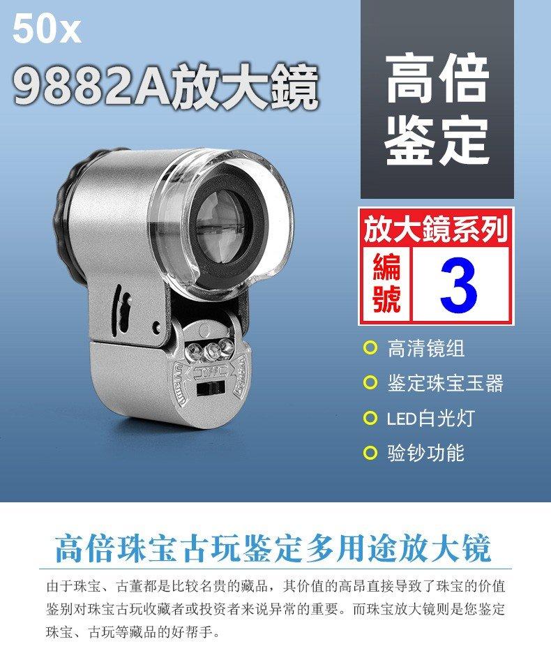 【喬尚拍賣】放大鏡系列【3】鐵灰烤漆50x放大鏡NO.9882A