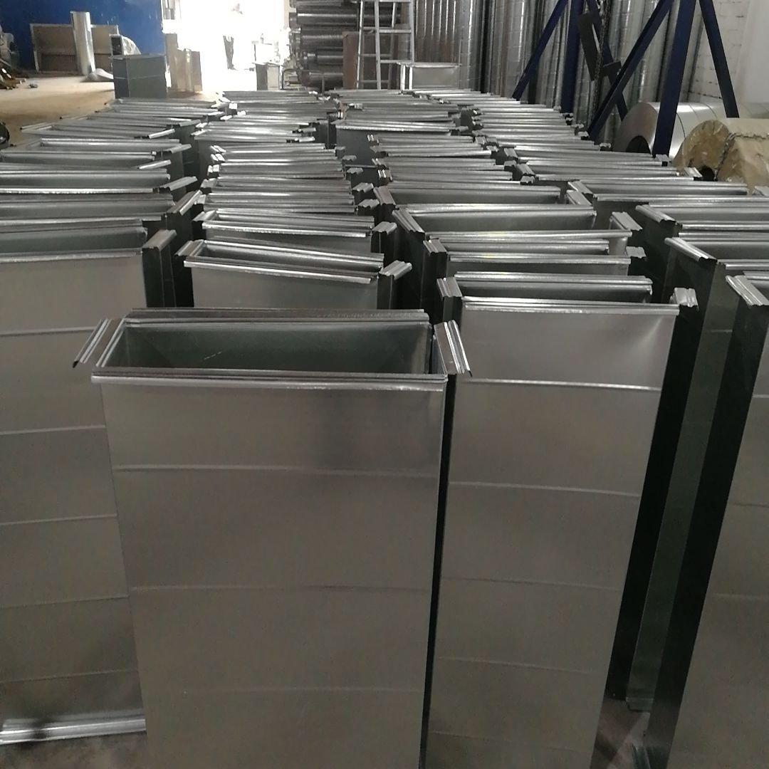 [台灣現貨]鍍鋅白鐵皮共板法蘭風管排風排油煙矩形方形不銹鋼通風管道廠家