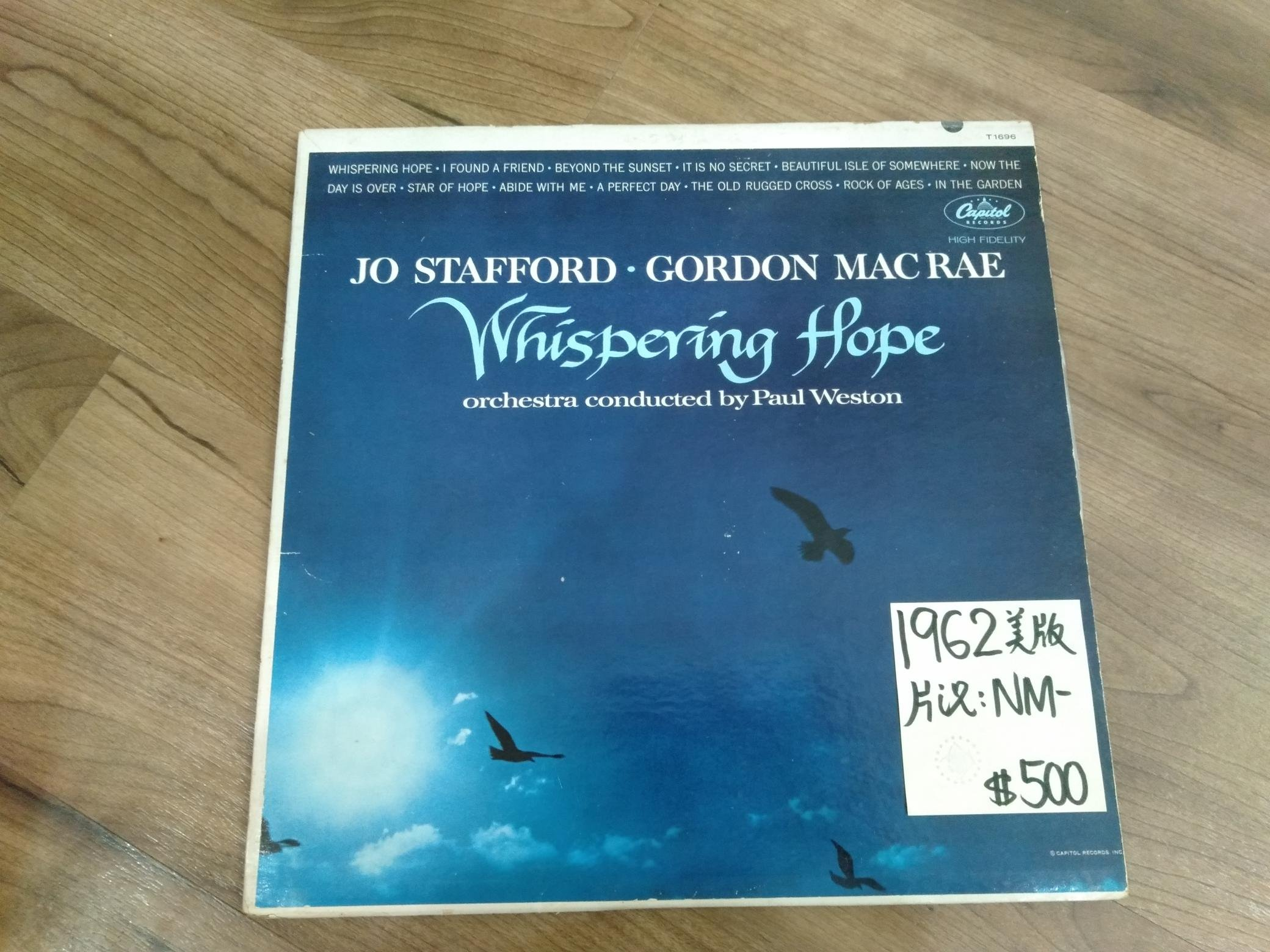 麗之音二手黑膠唱片行 西洋流行 Jo Stafford. Gordon Macrame  Whispering Hope