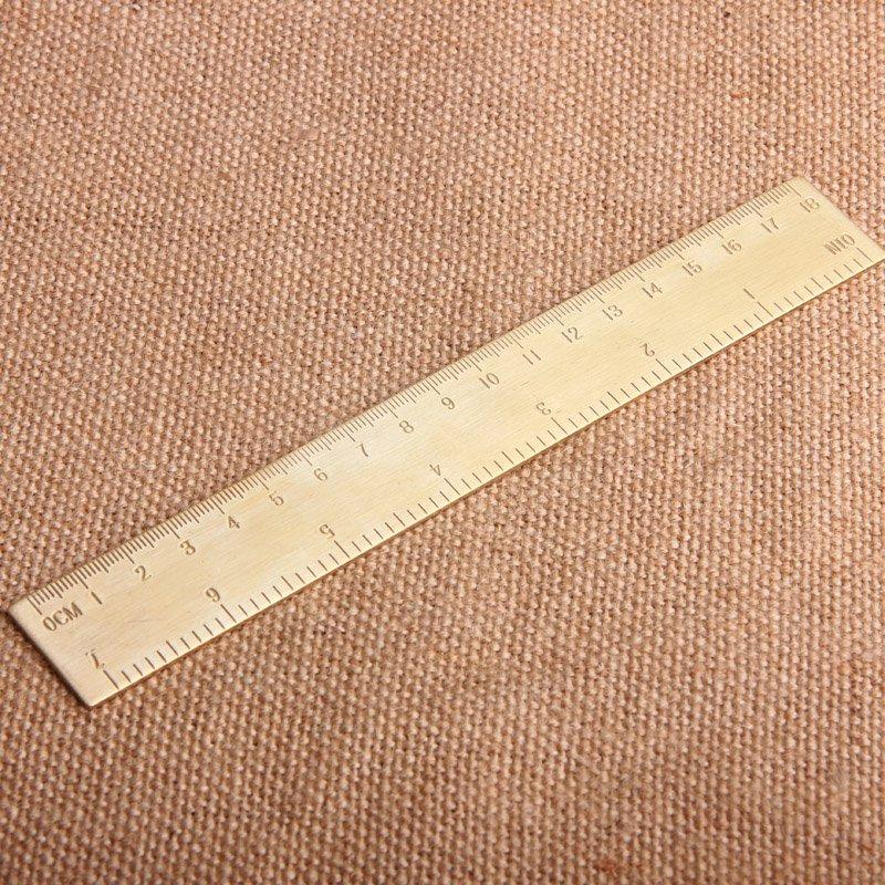 橙子的店 銅尺 18cm尺子黃銅尺子刻度尺厘米尺黃銅直尺 復古厚銅制尺子 2件起購