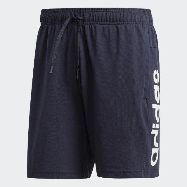 【鞋印良品】adidas 愛迪達 Core Linear DU0417 藍白 休閒短褲 男款 路跑 健身 重訓