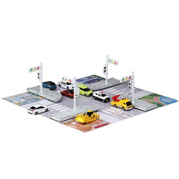 【HAHA小站】麗嬰  TAKARA TOMY TOMICA 路口地圖車輛組 多美小汽車 生日  TM89915