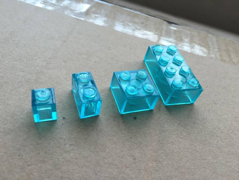 【積木城市】 工具-顆粒積木 1X1 1X2 2X2 2X4 冰雪色 1公克1.1元 透明色 特殊色 透明藍