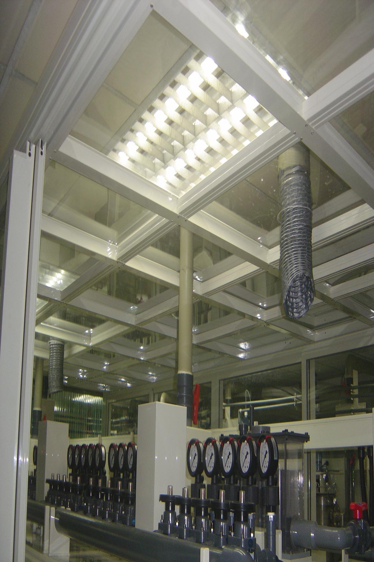 無塵室鋁隔間~採光玻璃屋~三合一通風門