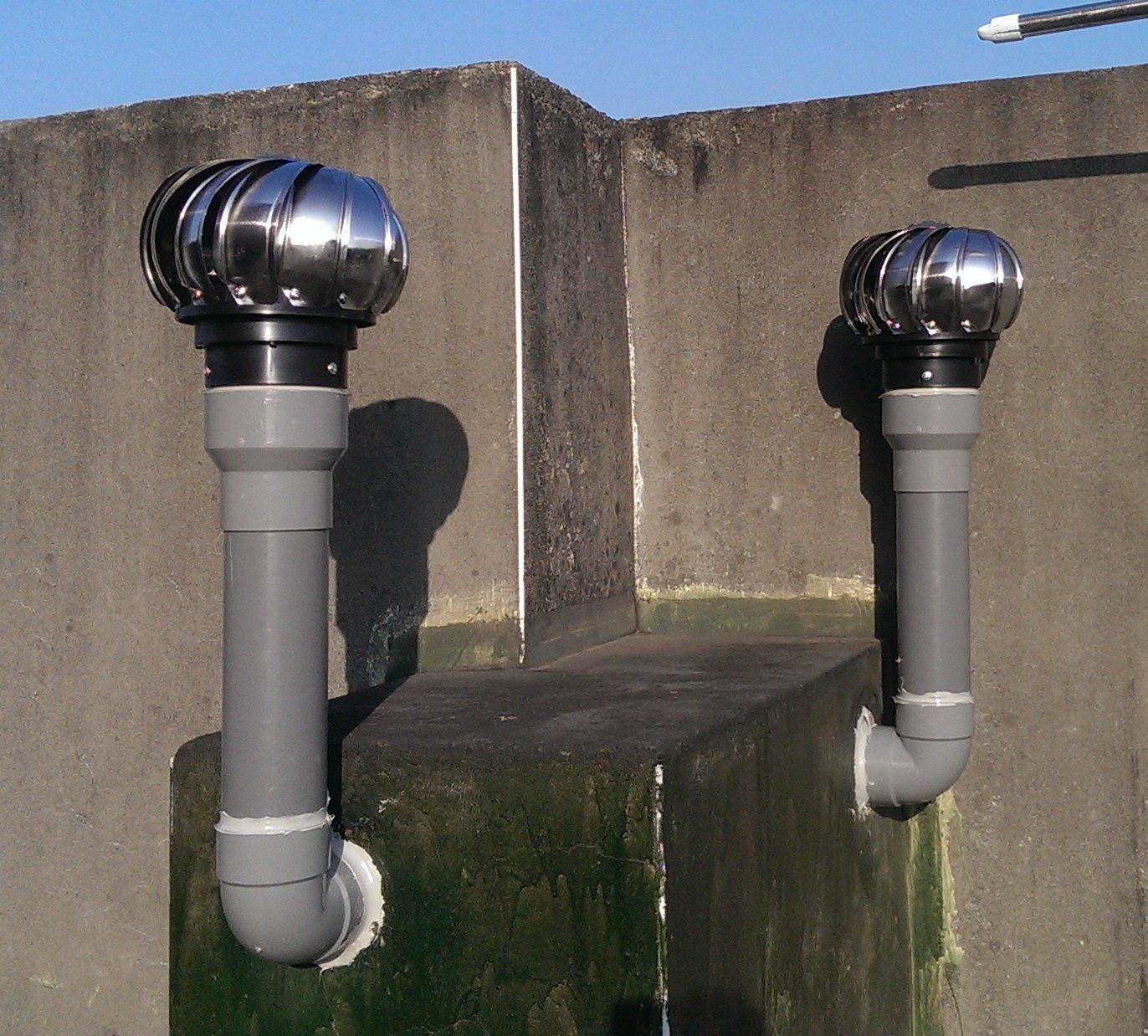 §排風專家§ 4 304不銹鋼 通風球 可轉配2吋~3吋水管 排風球, 適用於 浴室 廁所 大樓通風管(含異管組)