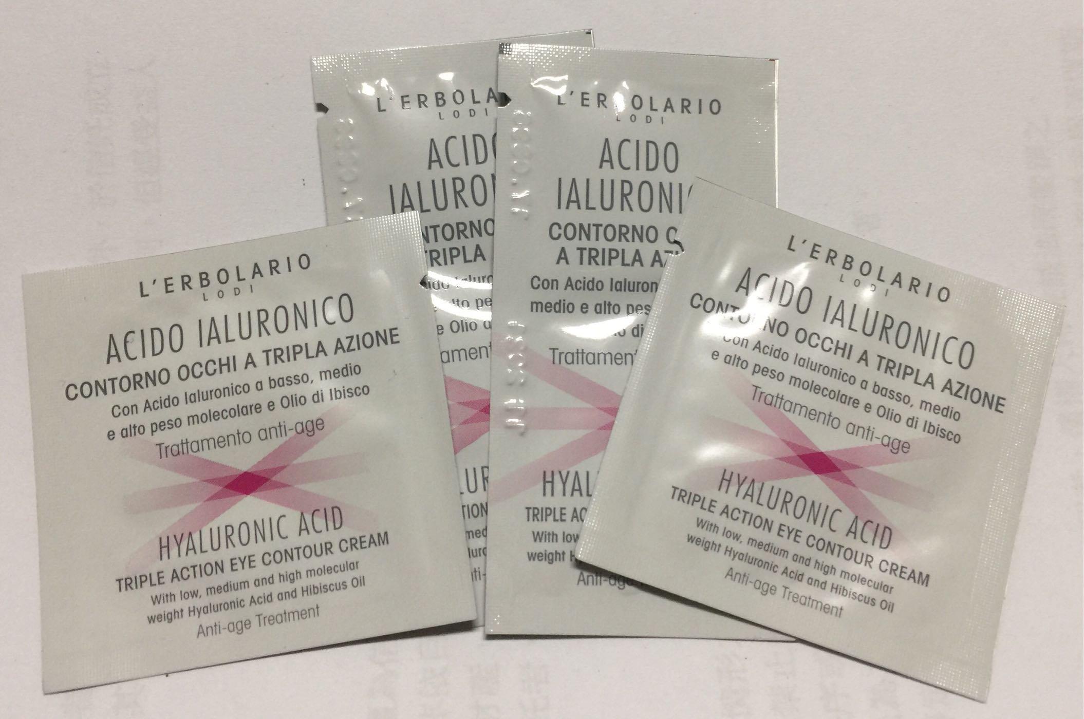 【草本生活‧蕾莉歐】三重透明質酸精華眼霜試用包1ML~特價$15元/包 滿$1000免運
