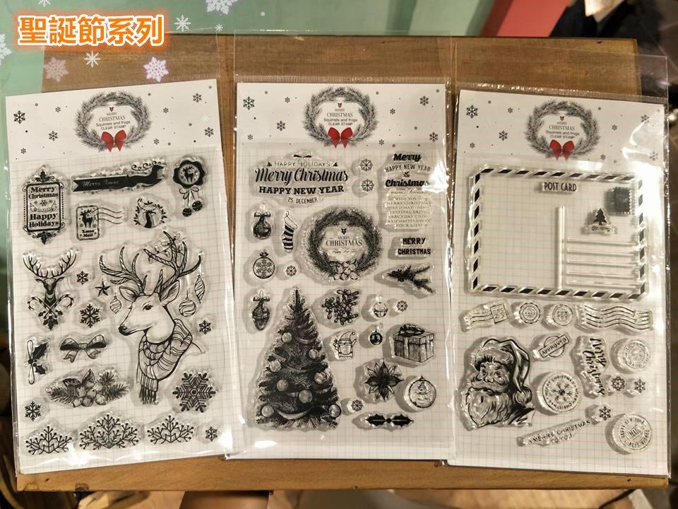 【Melon文具】週年慶!水晶印章買三送一!《聖誕節系列印章-1號賣場》水晶印章,印章,聖誕 , ,一中 店面