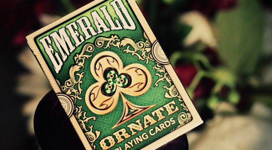 【USPCC撲克】ORNATE Deck PLAYING CARDS Emerald  華麗甲板 翡翠綠
