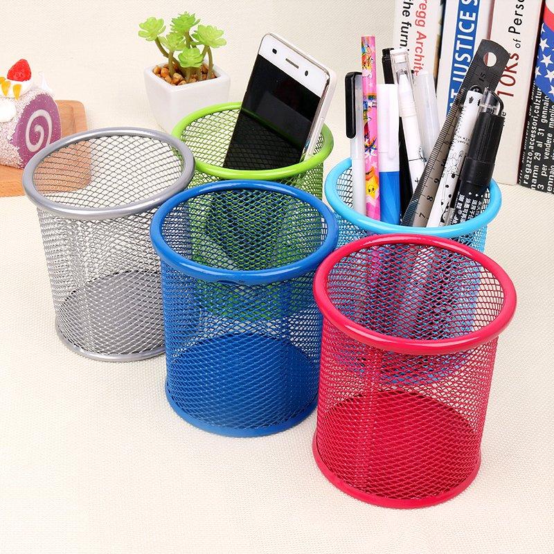 收納家居!!!9.9 網狀筆筒 圓形筆筒 桌面筆桶收納盒工具辦公文具用品