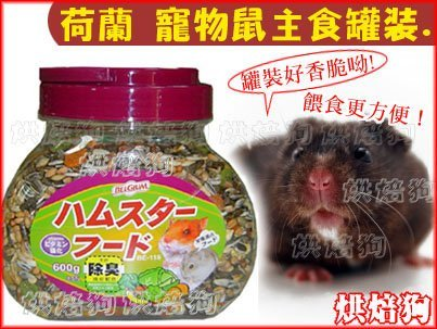烘焙狗.土城店【荷蘭BEL GIUM 寵物鼠飼料-桶裝600克】 磨牙主食~烘培狗