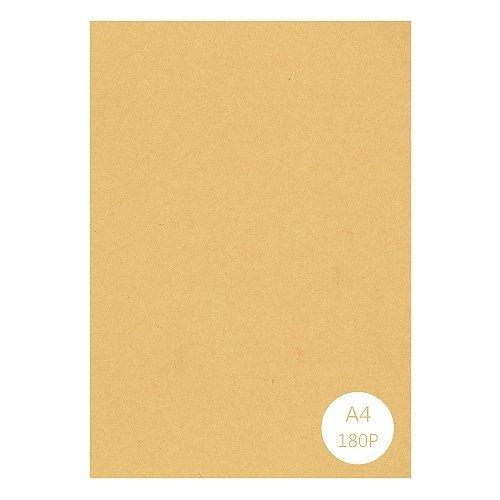 Luckshop 牛皮紙 A4 180P 1包25張(創作紙袋、卡片、明信片、書籤 紙張) 在印表機上