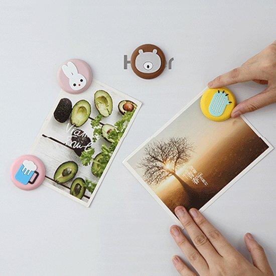 Color_me【S003-1】卡通軟磁鐵 磁鐵 冰箱 立體 造型 留言貼 強磁 磁力貼 無痕貼 磁性貼 紙條 日系 文