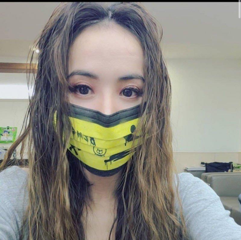 蔡依林  2021 ugly beauty演唱會口罩 黃黑款(四片1200