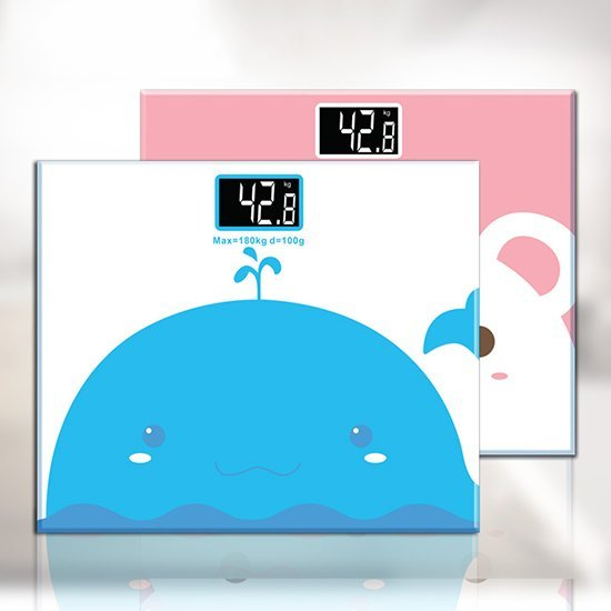 Color_me【M091】卡通動物體重計 體重計 感應開關 體重機 電子秤 體重秤 家用 人體秤 健康 夜視版 鋼化