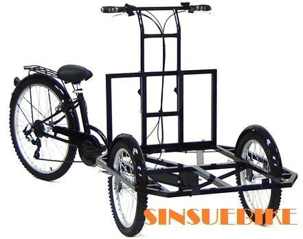 【新素主義】 小資創業 攤車 餐車 倒騎三輪車 可拆疊 台制(可加價升級電動版)