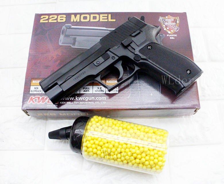 [01] KWC P226 空氣槍 + 0.12g BB彈 奶瓶(SIG SAUGER MK25 BB槍BB彈CS吃雞