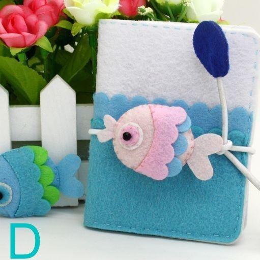 【免剪裁】不織布 DIY材料包 海洋卡包~D款魚