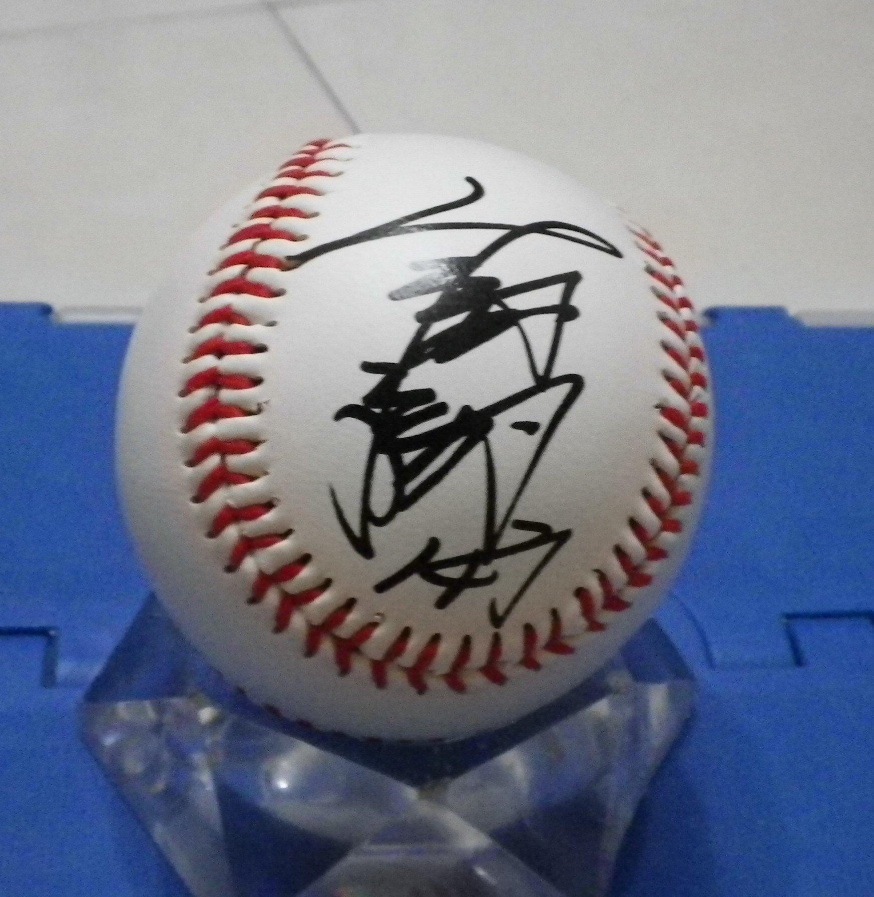 棒球天地----世界12強 中華隊 抗古英雄 宋家豪 簽名樂天球.字跡漂亮