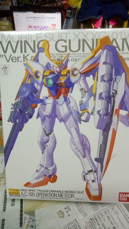 111玩具-正版--日本萬岱--1/100--MG 飛翼鋼彈----未組裝模型